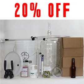 5 Gallon Kit with Glass Carboy