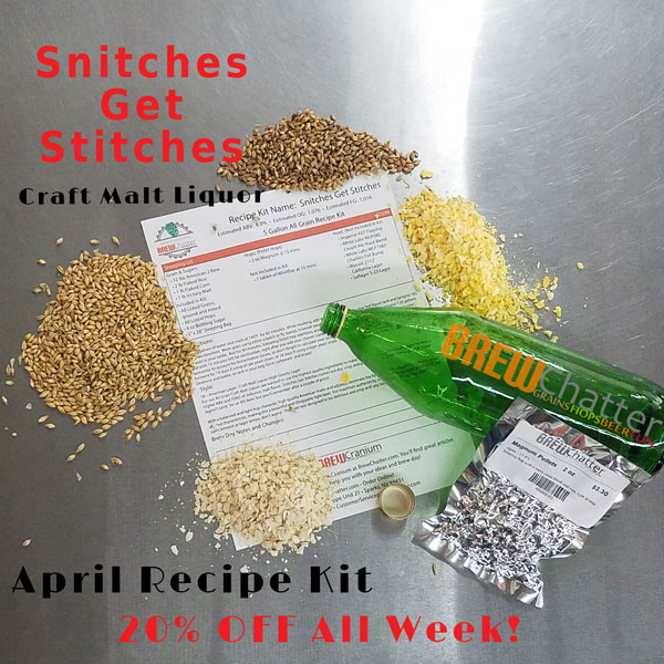 New Recipe Kit! Snitches get Stitches Extract or All Grain